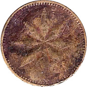 "20 Pfennig (Werth-Marke; 8-pointed star; Countermarked ""HL"") – reverse"