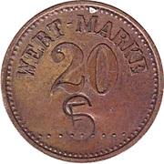"""20 Pfennig (Wert-Marke; Countermarked """"SF"""") – obverse"""