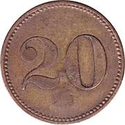 """20 Pfennig (Wert-Marke; Countermarked """"SF"""") – reverse"""