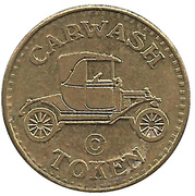 Carwash Token (No Cash Value; 22.7 mm) &nd