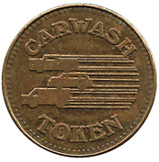 Carwash Token (3 Vehicle design) – obverse