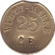 """25 Pfennig (Werth-Marke; Countermarked """"CH"""") – obverse"""