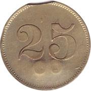 """25 Pfennig (Werth-Marke; Countermarked """"CH"""") – reverse"""