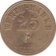 """25 Pfennig (Werth-Marke; Countermarked """"B"""") – obverse"""