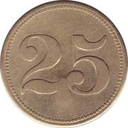 """25 Pfennig (Werth-Marke; Countermarked """"B"""") – reverse"""
