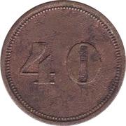 40 Pfennig (Werth-Marke) – reverse