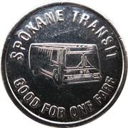 1 Fare - Spokane Transit (Spokane, Washington) – reverse