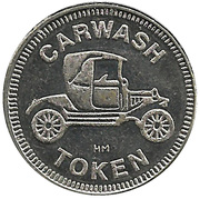 Carwash Token (No Cash Value) – obverse