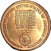 Token - Lyndon Johnson Inauguration – reverse