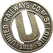 1 Fare - United Railways Co. of St. Louis (St. Louis, Missouri) – obverse