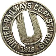 1 Fare - United Railways Co. of St. Louis (St. Louis, Missouri) – obverse