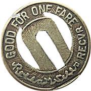 1 Fare - United Railways Co. of St. Louis (St. Louis, Missouri) – reverse