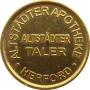 Altstädter Taler - Altstädter Apotheke (Herford) – obverse