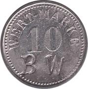 """10 Pfennig (Wert-Marke; Countermarked """"BW"""") – obverse"""