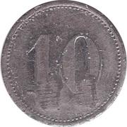 """10 Pfennig (Wert-Marke; Countermarked """"BW"""") – reverse"""