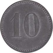 """10 Pfennig (Wert-Marke; Countermarked """"PDZ"""") – reverse"""