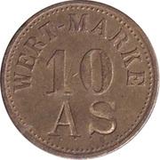 """10 Pfennig (Wert-Marke; Countermarked """"AS"""") – obverse"""