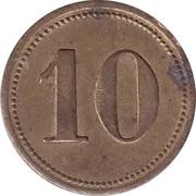"""10 Pfennig (Wert-Marke; Countermarked """"AS"""") – reverse"""