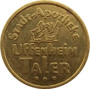 Uffenheim Taler - Stadt Apotheke (Uffenheim) – reverse