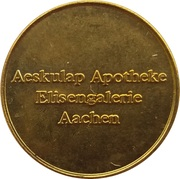 Apothekentaler - Aeskulap Apotheke (Aachen) – obverse