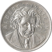 Token - Shell's Famous Facts and Faces Game (Albert Einstein) – obverse