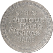 Token - Shell's Famous Facts and Faces Game (Albert Einstein) – reverse