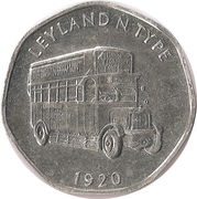 20 Pence - National Transport Token (Leyland N Type 1920) – obverse