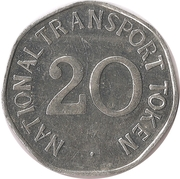 20 Pence - National Transport Token (Leyland N Type 1920) – reverse