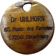 Token - Dr Uhlhorn (Strasbourg) – obverse