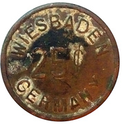25 Cents - Officers Club U.S.A.F.E (Wiesbaden) – reverse