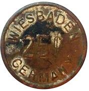 25 Cents - Officers Club U.S.A.F.E (Wiesbaden) – reverse