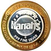 10 Dollar Gaming Token - Harrah's (Babe Ruth; Reno) – reverse