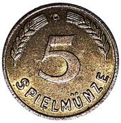 5 Spielmünze (Play Money) – reverse