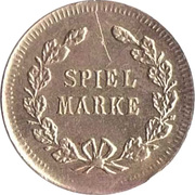 Spiel Marke (Caduceus; 19 mm) – reverse
