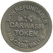 Carwash Token (No Cash Value; Smilling Cartoon Car) – reverse