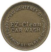 Carwash Token - EZ-Clean Car Wash (Gilroy, California) – obverse
