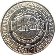 5 Cents Gaming Token - Harrah's St. Louis Riverport Casino – reverse