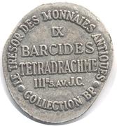 Token Collection BP - Le Trésor des Monnaies Antiques (№IX - Barcides Tetradrachme) – reverse
