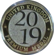 Royal Mint 2019 Premium Medal – obverse
