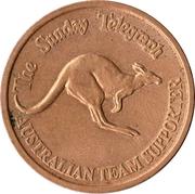 Token - The Sunday Telegraph (Australian Team supporter - XV Commonwealth Games) – reverse