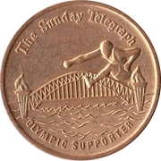 Token - The Sunday Telegraph (Olympic Supporter) – reverse