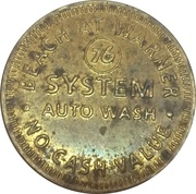 Carwash Token - Beach at Warner – obverse