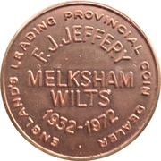 Halfpenny - F. J. Jeffery Melksham Wilts. – obverse