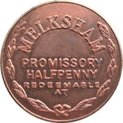 Halfpenny - F. J. Jeffery Melksham Wilts. – reverse