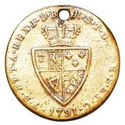 Spade Half Guinea Gaming Token - George III (Charles Peverelle, Birmingham) – reverse
