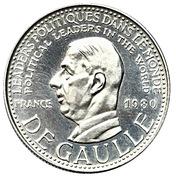 Token - Political leaders in the World (De Gaulle) – obverse