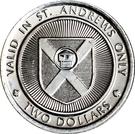 2 Dollars - St. Andrews, New Brunswick (The Algonquin 1889-1989) – reverse