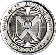 2 Dollars - St. Andrews, New Brunswick (Cottage Craft Tweeds) – reverse