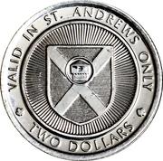 2 Dollars - St. Andrews, New Brunswick (Lady Dunn Trade School) – reverse