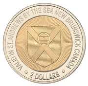 2 Dollars - St. Andrews, New Brunswick (All Saints Anglican Church) – reverse